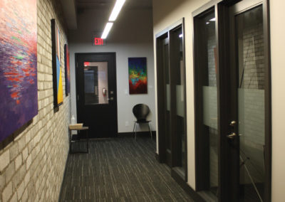 Private offices in shared coworking space